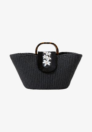 MIT BLUMEN - Handbag - black