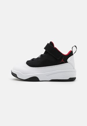 MAX AURA 2 UNISEX - Basketball shoes - white/gym red/black