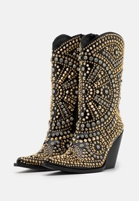 Jeffrey Campbell - STUDLEY - High heeled ankle boots - black/gold - 2