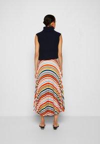 Victoria Victoria Beckham - PLEATED STRIPE SKIRT - Pleated skirt - multi - 3