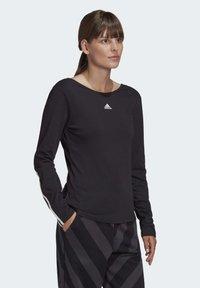 adidas Performance - PRIMEBLUE LONG-SLEEVE TOP - Long sleeved top - black - 3