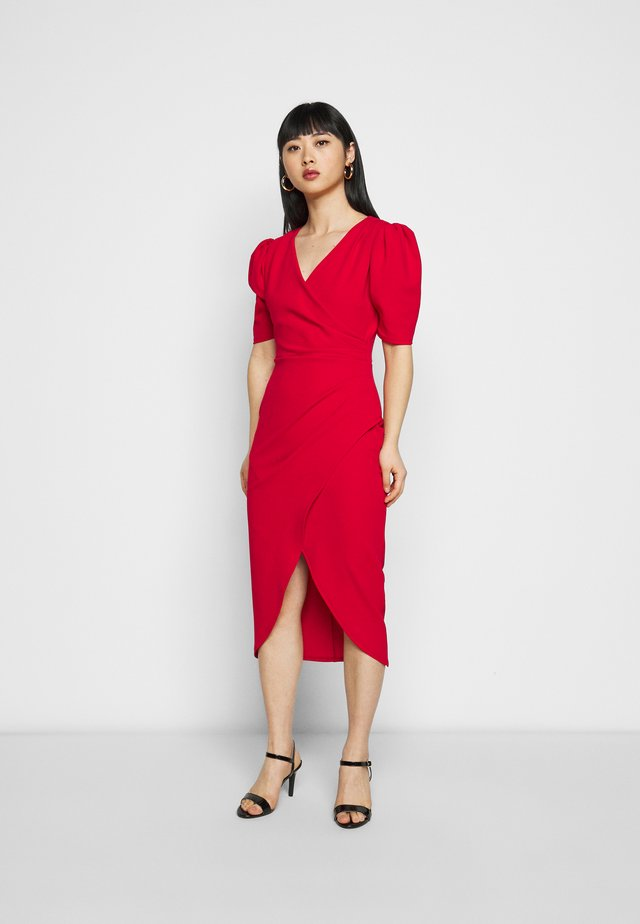 LEXI - Cocktailjurk - red