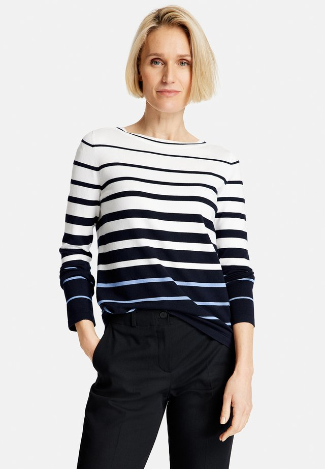 Jumper - dark navy/ vivid blue/ ecru