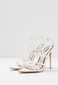 Miss Selfridge - SLOANE STRAPPY POINTED TOE  - High heeled sandals - white - 4