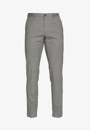 MINI CHECK SLIM FIT PANT - Trousers - grey