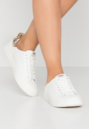 ONLSHILO - Zapatillas - white/gold