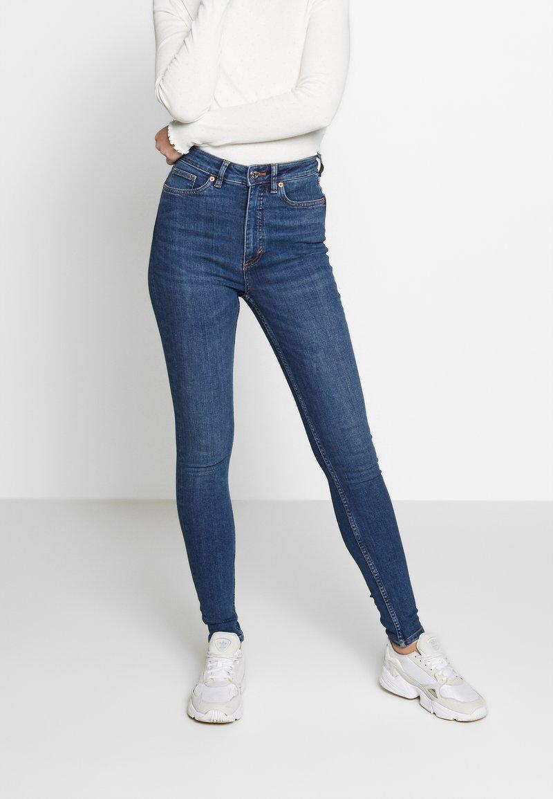 Monki - OKI NEW - Jeansy Skinny Fit - blue medium dusty