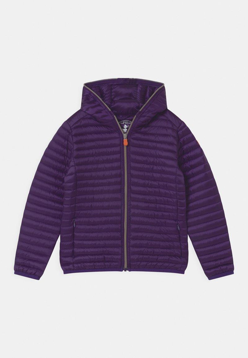 Save the duck - IRIS HOODED UNISEX - Light jacket - deep purple