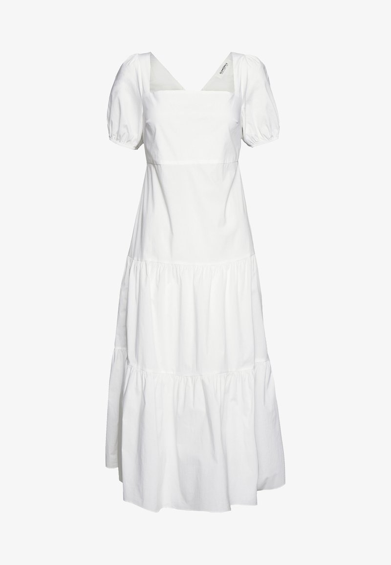 Glamorous - SHORT SLEEVE TIERED DRESS - Maxikleid - white