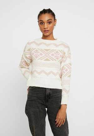 PRETTY FAIRISLE JUMPER - Sweter - cream
