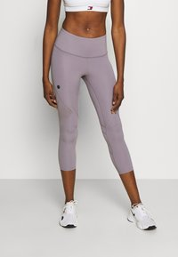 Under Armour - RUSH CROP - Leggings - slate purple - 0
