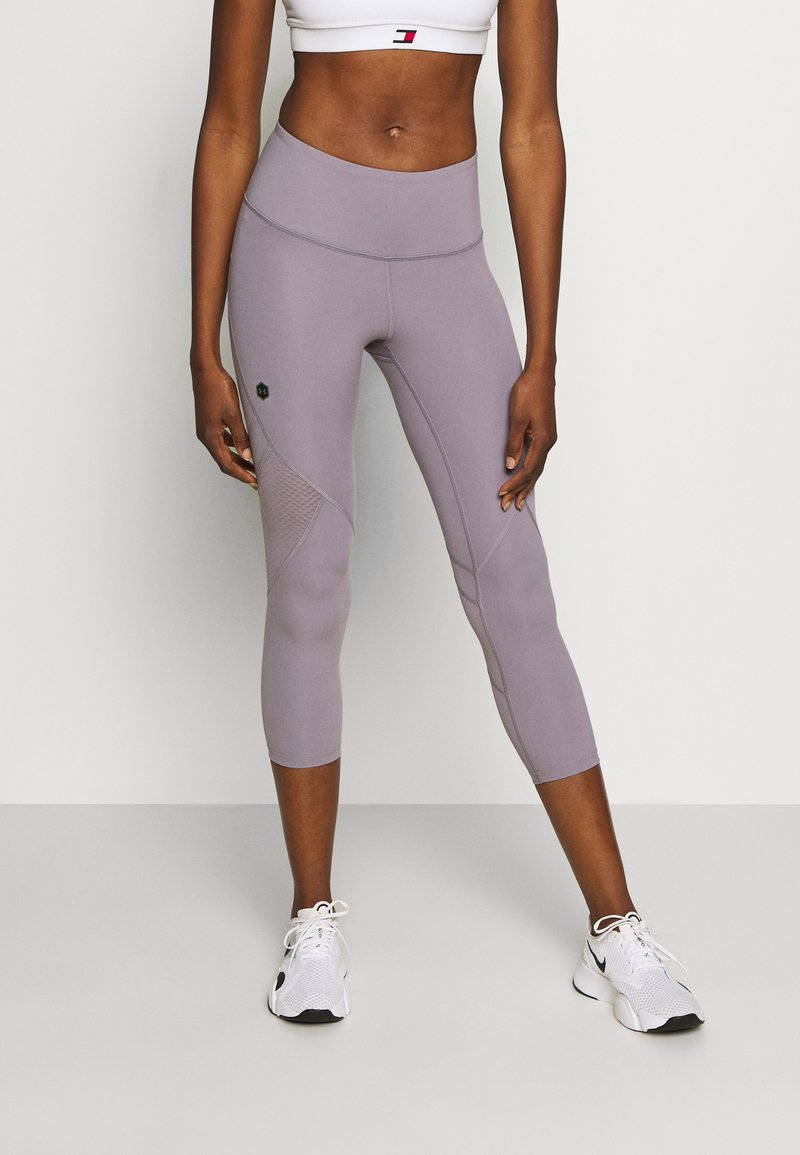 Under Armour - RUSH CROP - Leggings - slate purple