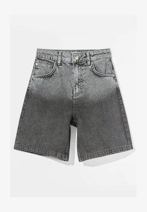 Denim shorts - dark grey