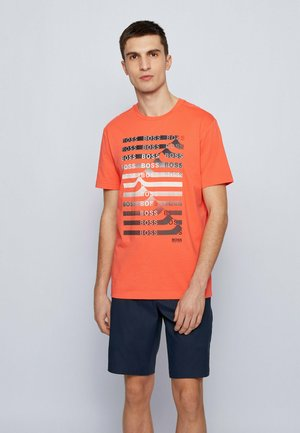Print T-shirt - open red