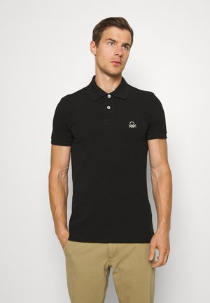 SLIM - Polo shirt - black