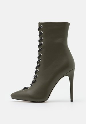 VELERY TOP UP - High heeled ankle boots - khaki