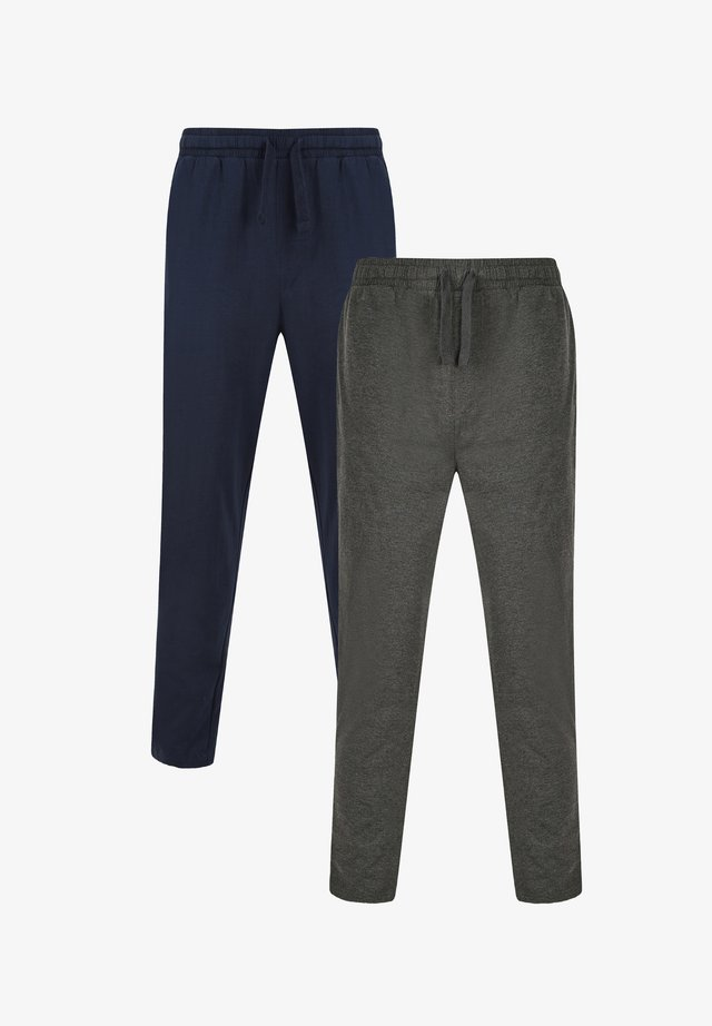 2PK RENE - Pyjamabroek - navy & charcoal marl