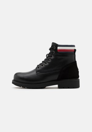 CORPORATE WATERPROOF BOOT - Lace-up ankle boots - black