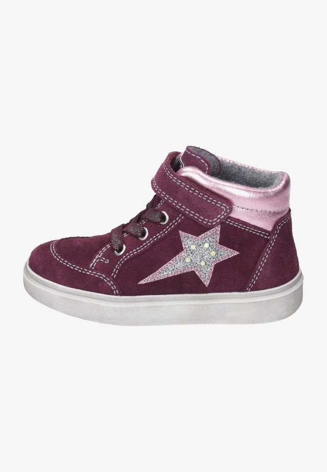 Trainers - plum/candy/silver/fuchsia