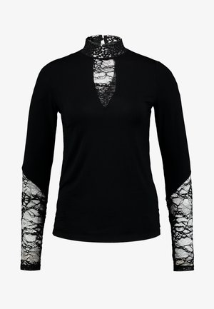 BLOUSE - Long sleeved top - black