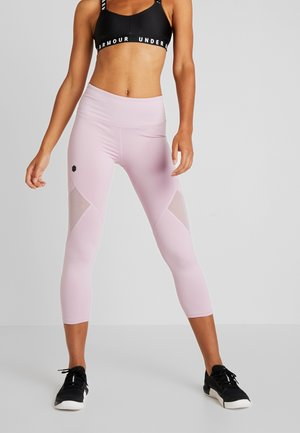 RUSH CROP - Legginsy - pink fog/black