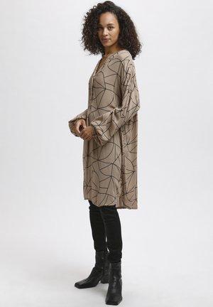 KAAROA AMBER - Tunic - camel / black lines print