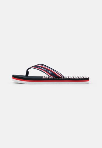 T-bar sandals - navy/white/red