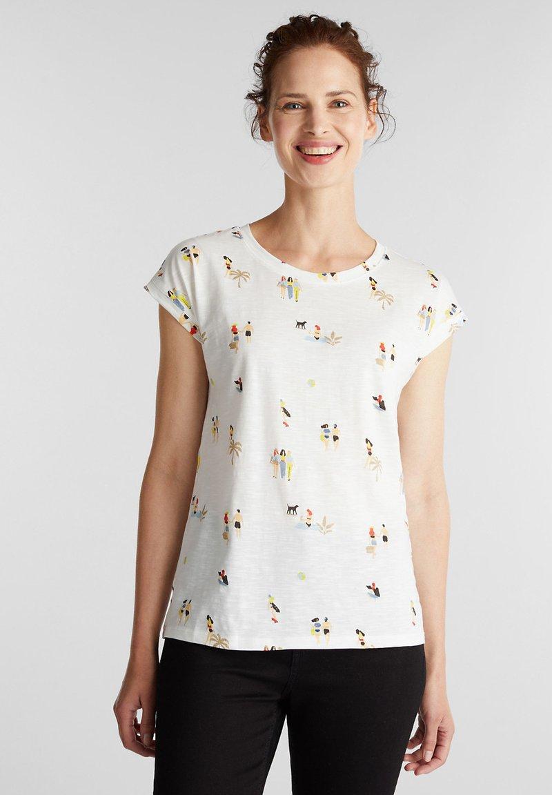 Esprit - T-shirt z nadrukiem - off white