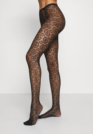 RECOVERS LACE - Collant - black