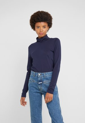 TISSUE TURTLENECK - Long sleeved top - navy