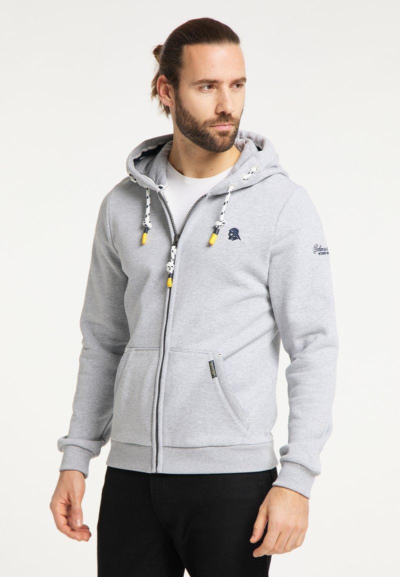 Schmuddelwedda - SWEATJACKE - Zip-up hoodie - hellgrau melange