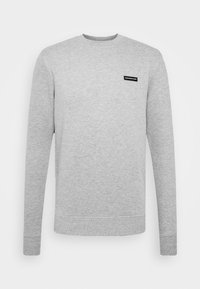 FITTED ESSENTIAL WITH RUBBER BADGE - Sudadera - grey