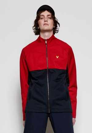 ARCHIVE TRICOT ZIP THROUGH - Zip-up hoodie - chilli pepper red/ dark navy
