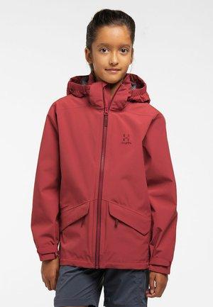 MILA - Waterproof jacket - brick red