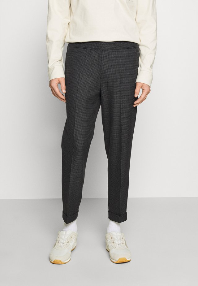 PILOU - Pantalon classique - dark grey melange