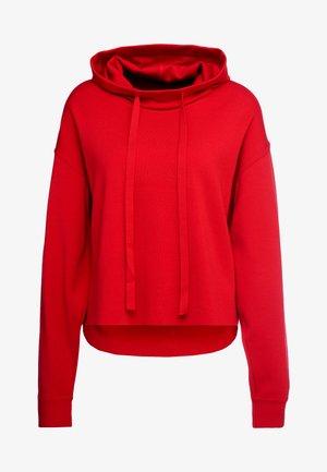 FELPA AMPIA CON CAPPUCCIO - Hoodie - red