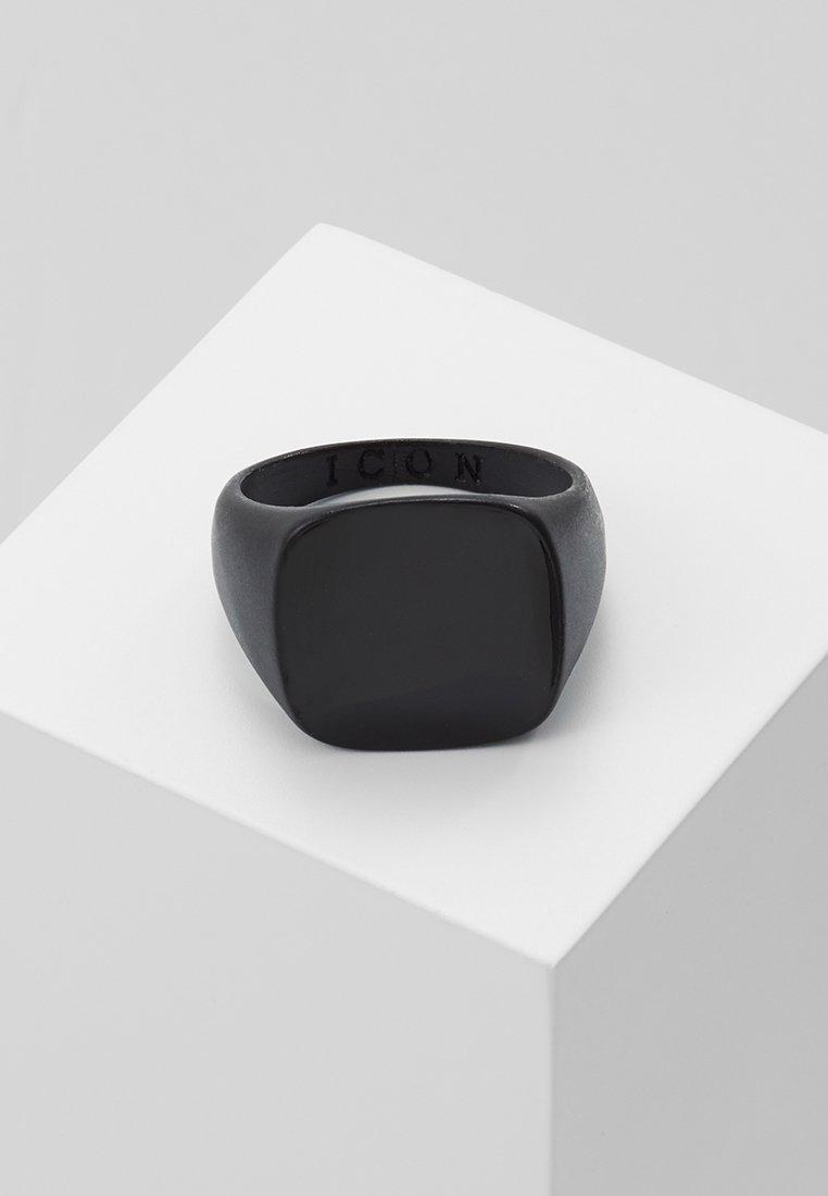 Icon Brand - SQUARED SIGNET - Ring - black