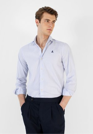 Shirt - white blue stripes