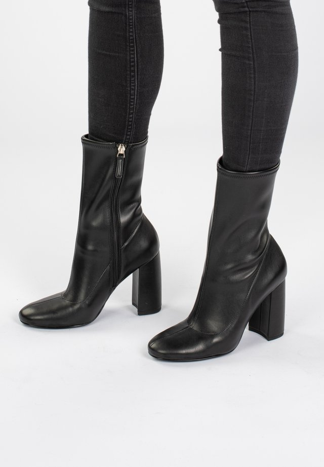 CAL  - Bottines à talons hauts - black metallic