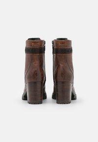 TOM TAILOR - Platform ankle boots - cognac - 3