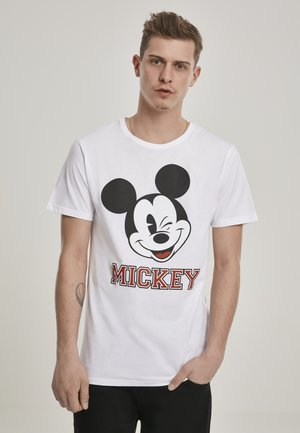 MICKEY COLLEGE  - T-shirt med print - white