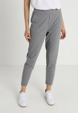 OBJCECILIE - Trousers - medium grey melange