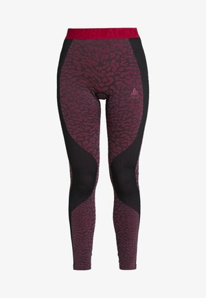 BOTTOM PANT PERFORMANCE - Leggings - black/cerise