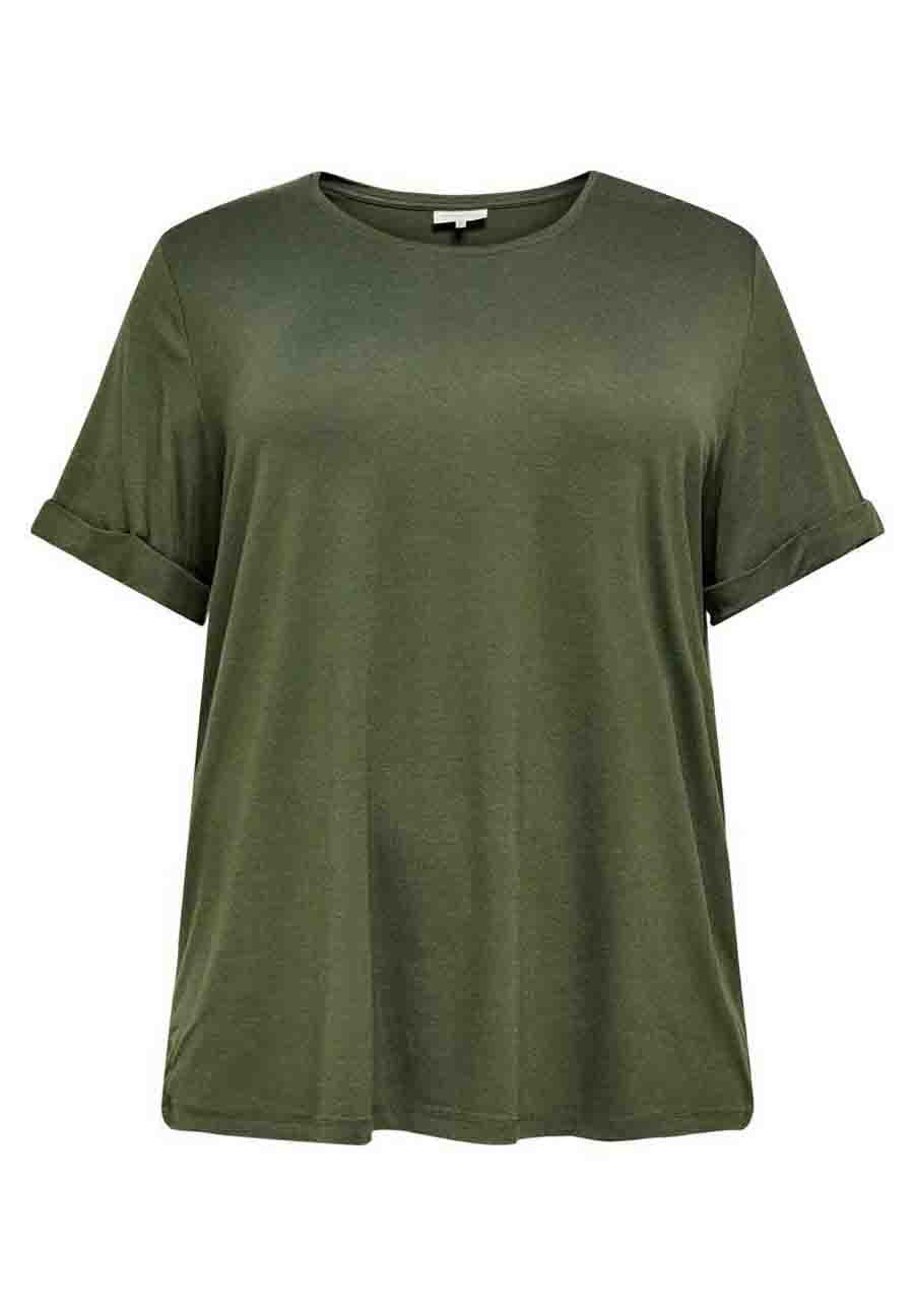 Donna EINFARBIGES CURVY - T-shirt basic