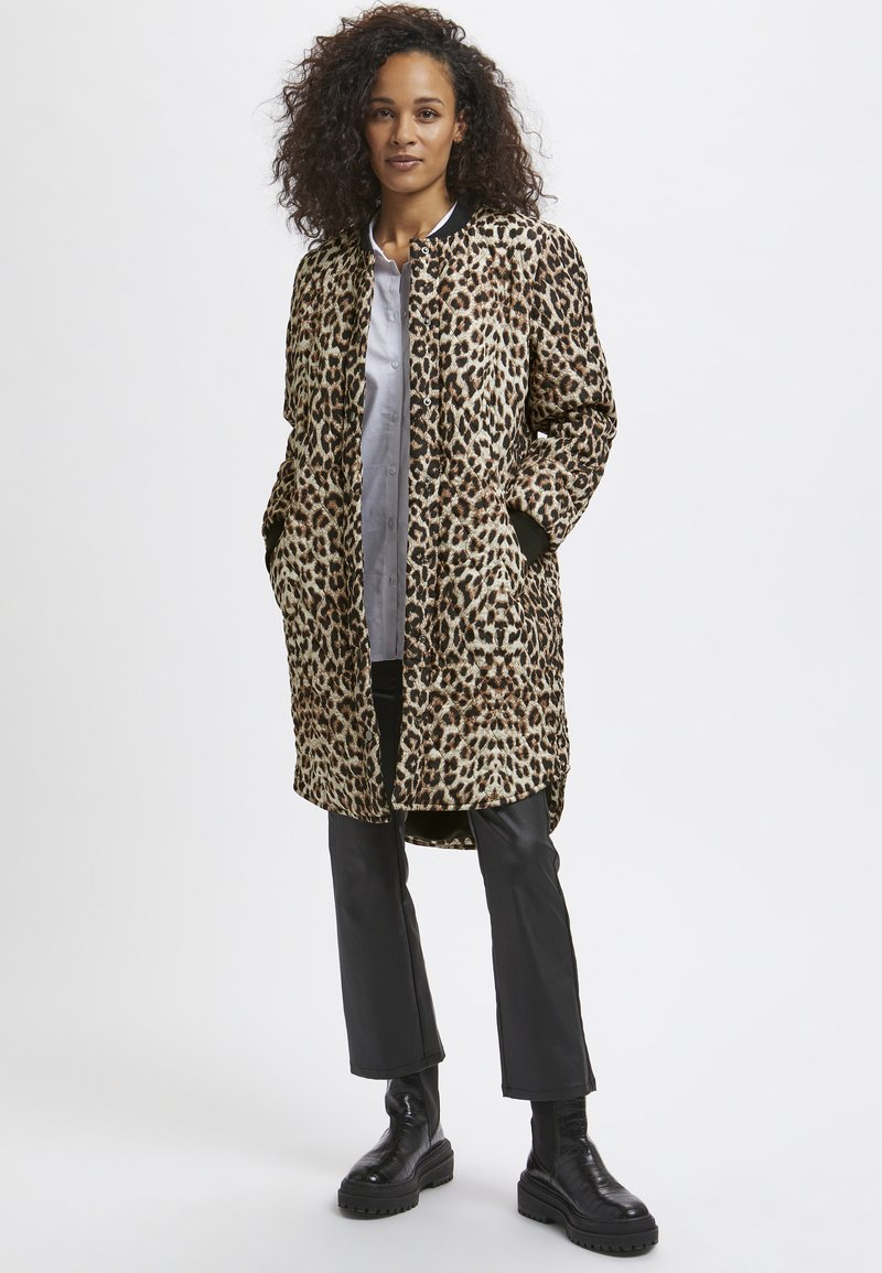 Kaffe - Winter coat - light brown leo print