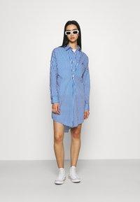 River Island - DAYNA ADJUST DRESS - Shirt dress - blue - 1