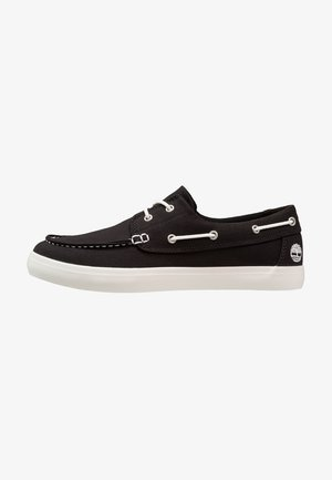UNION WHARF 2 EYE - Boat shoes - black