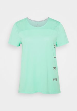 RUN MILER  - Print T-shirt - green glow/white