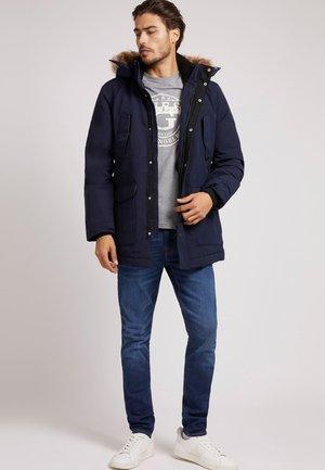 STEPP MIT KAPUZE - Down coat - dunkelblau