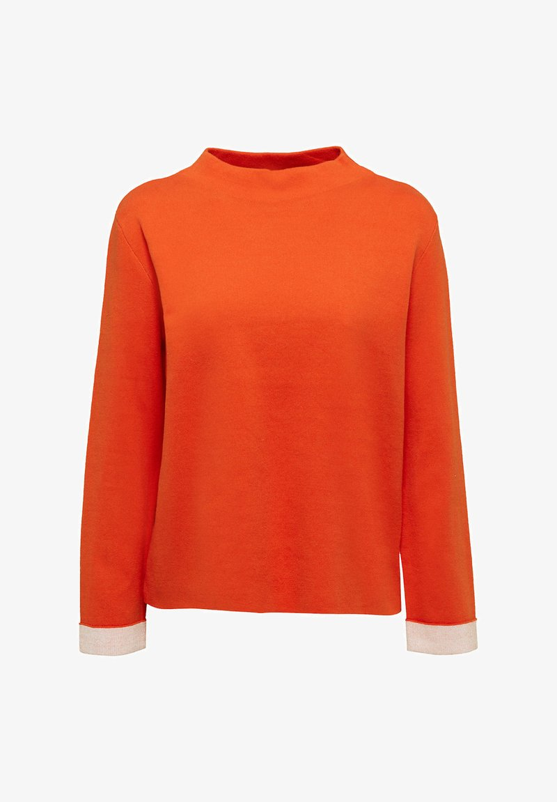 Esprit BOXY - Strickpullover - rust orange/orange NZ6ZRE
